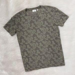 Wilfred Aritzia Green Mesh Short Sleeve Shirt Top